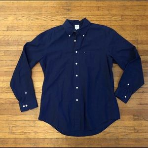 Brooks Brothers Slim Fit Navy Button Down, Large